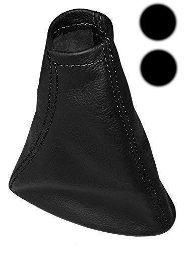 Lever Gaiter Cover Bellows made of 100/% Genuine Black Leather White Stitched Gear Shift Collar Aerzetix