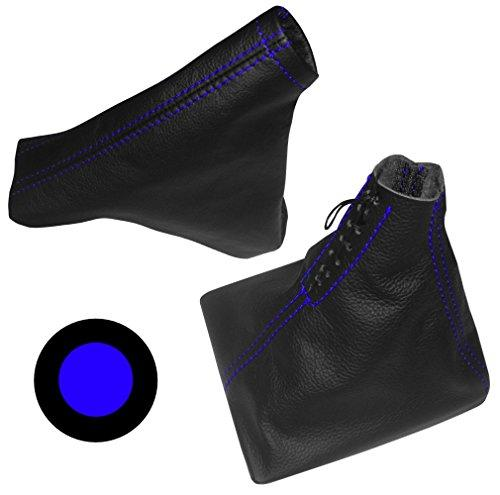 Cover made of 100/% Genuine Black Leather with Orange Stitching Aerzetix Gear Shift Lever Gaiter