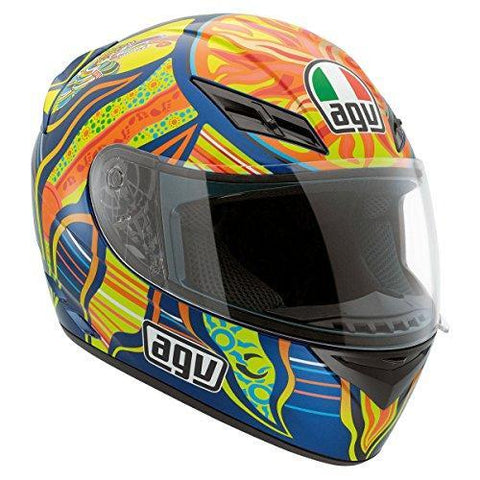 AGV K3 5-Continents Full Face Motorcycle Helmet (Multicolor, Large)-Helmets-AGV-Helmetdon