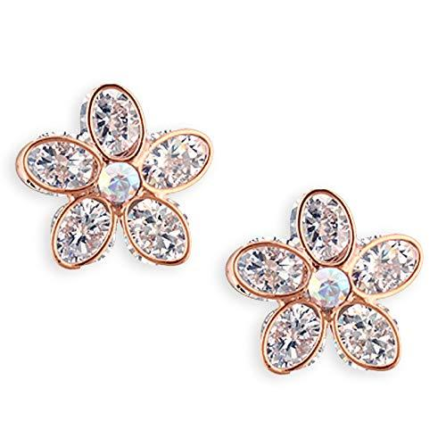 5ac41efbc Alamod Brass Metal Gold Plated Floral Stud Earring For Women-Jewelry -Alamod-Helmetdon
