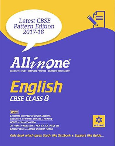 All in one ENGLISH class 8th (Old Edition)-Arihant Publication-Helmetdon
