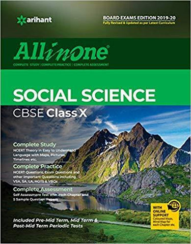 All in one Social Science Class 10th-Books-UBSPD-Helmetdon