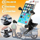 AllExtreme Plastic Universal Mobile Phone Mount With 360 Degree Rotation for Bikes (Black)-Bike Accessories-AllExtreme-Helmetdon