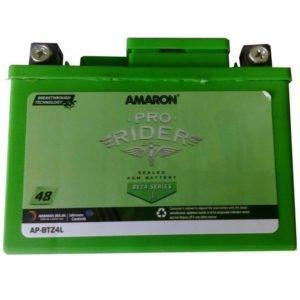 Amaron Pro Bike Rider 12 Volt 4 AH Battery-Automotive Parts and Accessories-Amaron-Helmetdon