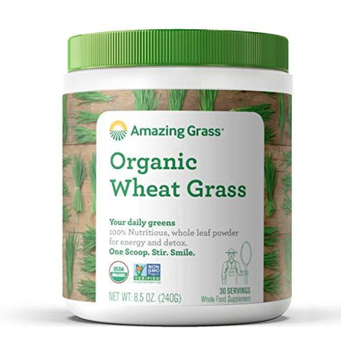 Amazing Grass Organic Wheat Grass, 30 Servings, 8.5 Ounces-Grocery-Amazing Grass-Helmetdon