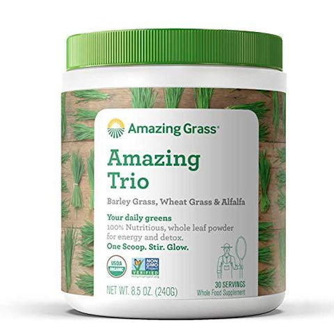 Amazing Grass Powder - Amazing Trio - 8.5 oz-Beauty-Amazing Grass-Helmetdon