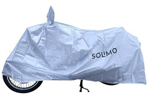 Amazon Brand - Solimo Royal Enfield Water Resistant Bike Cover (Silver)-Automotive Parts and Accessories-Amazon Brand - Solimo-Helmetdon