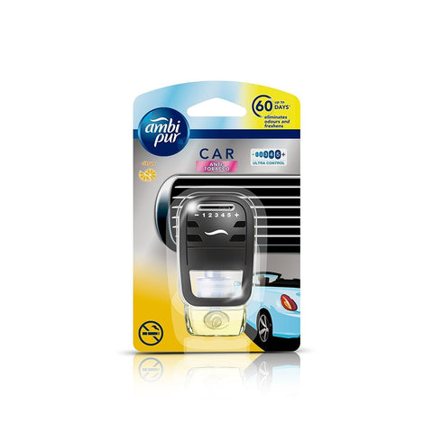 Ambi Pur After Tobacco Car Vent Air Freshener Starter Kit (7.5 ml)-Car Perfumes-AmbiPur-Helmetdon