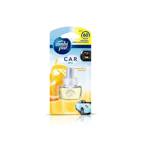 Ambi Pur Sweet Citrus and Zest Car Air Freshener Refill (7.5 ml)-Car Perfumes-AmbiPur-Helmetdon