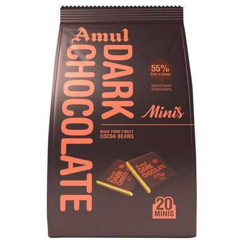 Amul Dark Chocolate Gable Top (Pack of 2)-Grocery-Amul-Helmetdon