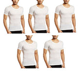 Amul Gold Mens's White Half Sleeves Vest Pack of 5 Pcs (Size-S) (Full Baju Baniyan)-Apparel-Amul-Helmetdon
