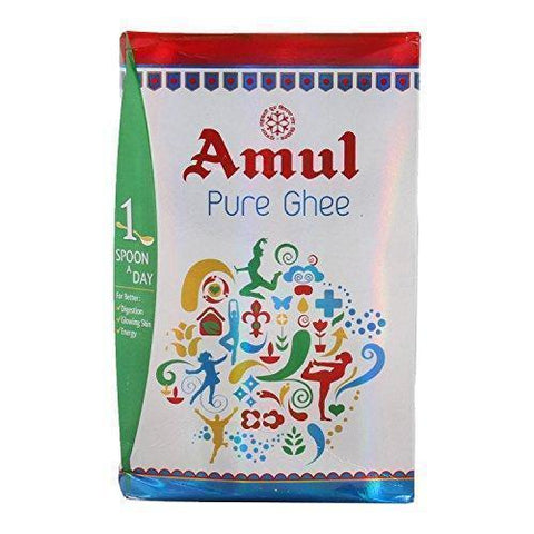 Amul Pure Ghee Pouch, 1L-Grocery-Amul-Helmetdon