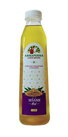 Annapurna Extra Vergin Sesame 100Ml Made On Wooden Churter-Grocery-Annapurna-Helmetdon