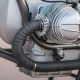 AOW Attractive Offer World Silencer Wrap Bike Exhaust Heat Shield for Royal Enfield All Royal Enfield Models, (Black) Length-5 Metre-ATTRACTIVE OFFER WORLD-Helmetdon