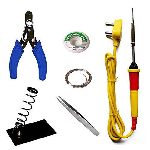Aptechdeals Beginners 6 in 1 Economy Soldering Iron Kit/Electric Soldering Iron Kit 6 in 1-Aptechdeals-Helmetdon
