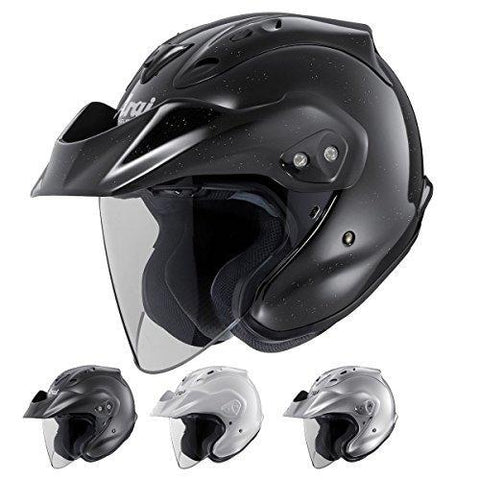Arai Helmets CT-Z Solid Helmet , Distinct Name: Black Frost, Gender: Mens/Unisex, Helmet Category: Street, Primary Color: Black, Size: Sm, Helmet Type: Open-face Helmets 819131-Helmets-Arai-Helmetdon