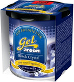 Areon Black Crystal Gel Air Freshener for Car (80 g)-Car Perfumes-Areon-Helmetdon