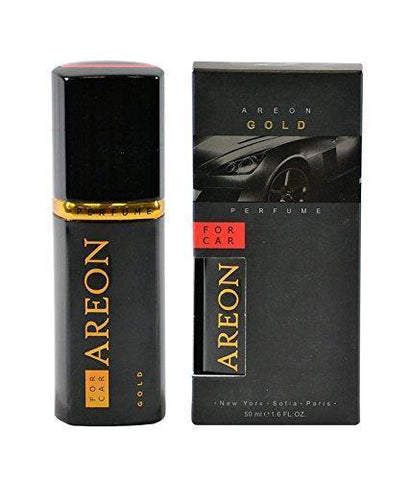 Areon Gold Perfume Car Air Freshener (50 ml)-Car Perfumes-Areon-Helmetdon