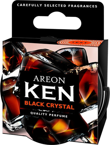 Areon Ken Black Crystal Car Air Freshener (35 g)-Car Perfumes-Areon-Helmetdon
