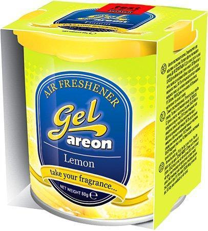 Areon Lemon Gel Air Freshener for Car (80 g)-Car Perfumes-Areon-Helmetdon