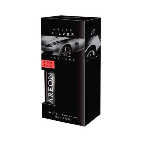 Areon Silver Perfume Car Air Freshener (50 ml) (50ml)-AREON-Helmetdon