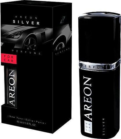Areon Silver Perfume Car Air Freshener (50 ml)-Car Perfumes-Areon-Helmetdon