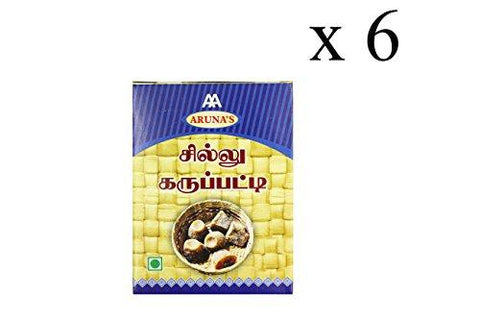 Aruna's Chillu Karupatti/ Dry Ginger Palm Jaggery, 1000 Gms (Pack of 6)-Grocery-Aruna's-Helmetdon