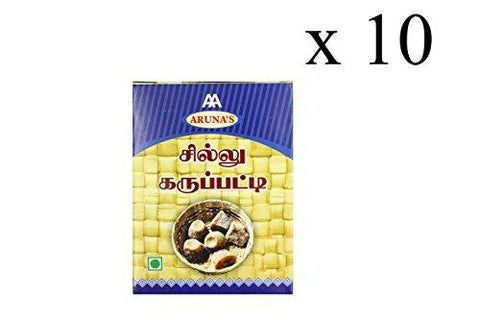 Aruna's Chillu Karupatti/ Dry Ginger Palm Jaggery, 200 Gms (Pack of 10)-Grocery-Aruna's-Helmetdon