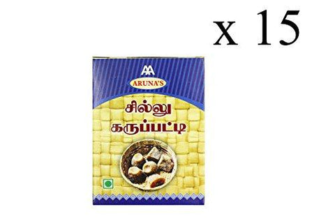 Aruna's Chillu Karupatti/ Dry Ginger Palm Jaggery, 200 Gms (Pack of 15)-Grocery-Aruna's-Helmetdon