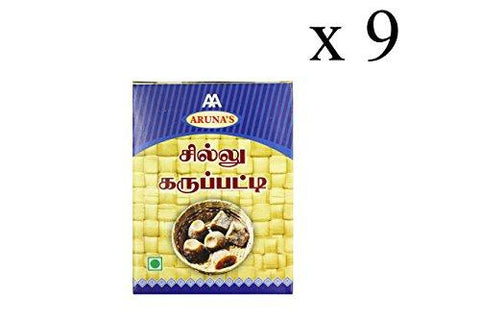 Aruna's Chillu Karupatti/ Dry Ginger Palm Jaggery, 200 Gms (Pack of 9)-Grocery-Aruna's-Helmetdon