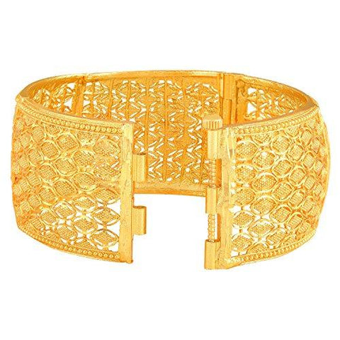 61ddb7e795de6 Asmitta Traditional Marquise Design Gold Plated 1 Gms Gold Brass Openable  Kada For Women