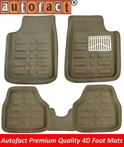 Autofact Beige 3D/4D Car foot Mats For Maruti Swift Dzire 2017 Onwards (Complete Set)-Car Accessories-Autofact-Helmetdon