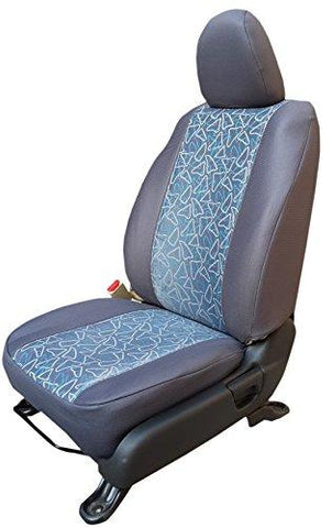Autofact For Hyundai Santro Xing - Car Seat covers - Jacquard Fabric - High Quality - Grey Colour-Autofact-Helmetdon