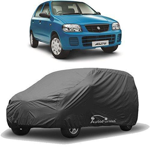 Autofurnish Matty Grey Car Body Cover For Maruti Alto - Grey-Car Accessories-Autofurnish-Helmetdon