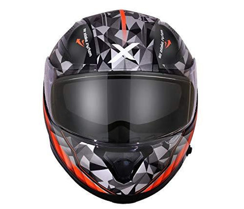 Axor Apex Crypto D/V Full Face Helmet (Black and Orange, XL)-Automotive Parts and Accessories-axor-Helmetdon