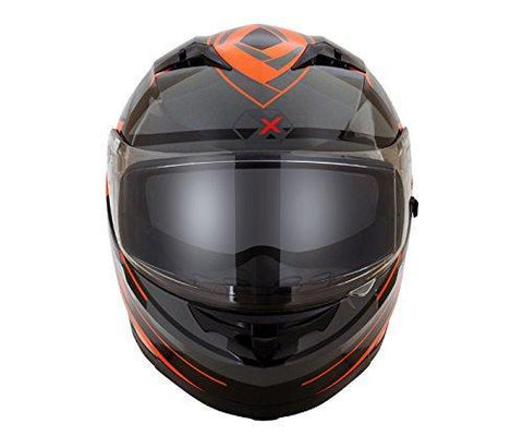 Axor Stealth Crazy Full Face Helmet (Black/Orange, L)-Helmets-AXOR-L-Helmetdon