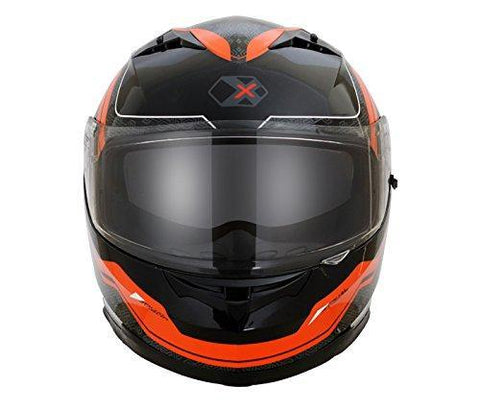 Axor Stealth EXIGE Full Face Helmet (Black/Orange, L)-Helmets-AXOR-L-Helmetdon