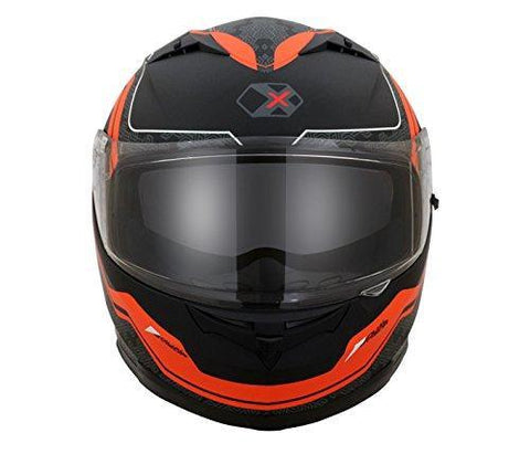 Axor Stealth EXIGE Full Face Helmet (Dull Black/Orange, M)-Helmets-AXOR-M-Helmetdon