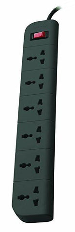 Belkin F9E600zb2MGRY Essential Series 6-Socket Surge Protector-Computers and Accessories-Belkin-Helmetdon