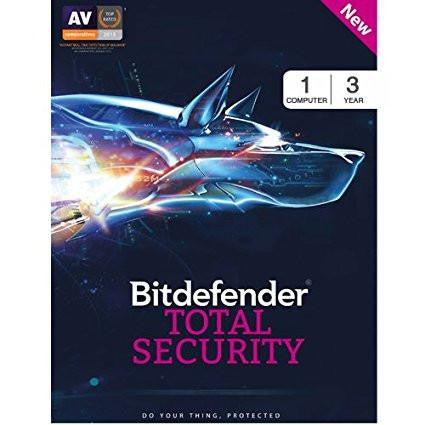 BitDefender Total Security 2017 - 1 User, 3 Years (Voucher)-Computers and Accessories-BitDefender-Helmetdon