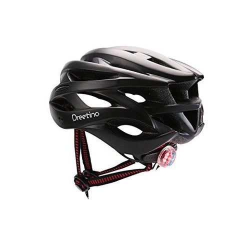 black : Cycling Helmet with Back Light Bicycle Men Women Mountain Bike Helmet Road Cycling Equipment Bycicle Accessories for west biking-LEPAKSHI-Helmetdon