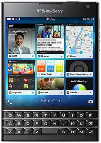 BlackBerry Passport (Black, 32GB)-BlackBerry-Helmetdon