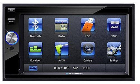 Blaupunkt San Marino 330 6.2 inch Touchscreen, Bluetooth Car Stereo Multimedia Player (2 DIN)-Blaupunkt-Helmetdon