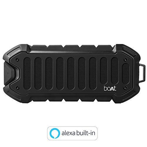 boAt Stone 700A Water Proof and Shock Proof Portable Smart Speaker with Alexa (Rugged Black)-CE-Boat-Helmetdon