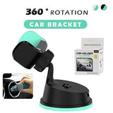 Boka Retails™ 2 in 1 Mini Air Vent Car Mount/GPS Holder Windshield 360 Rotating for Mobile Phone Holder for All Smart Phones.-CE-Boka Retails-Helmetdon
