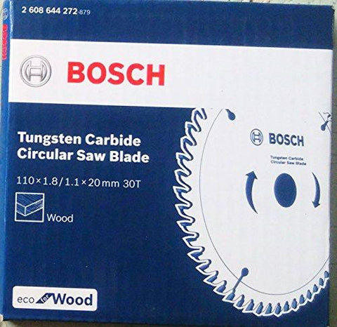 Bosch 2608644272 TCT Wood Circular Saw Blade, Eco Series (110 x 20, 30 Teeth)-Bosch-Helmetdon