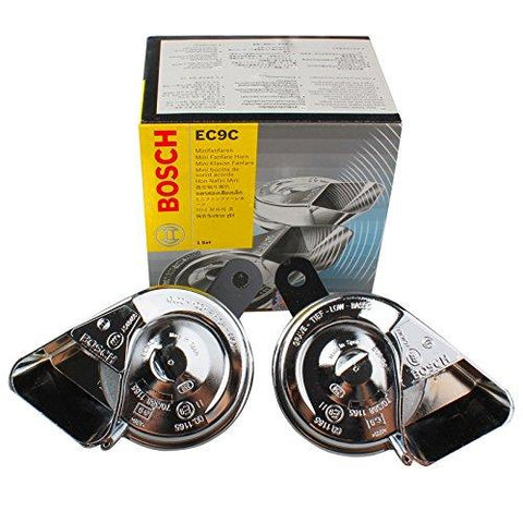 Bosch 6033FB1510 Fan Trumpet Horn for Cars -Set of 2 (12V, 420/510 Hz, 105-118 dB)-Automotive Parts and Accessories-Bosch-Helmetdon