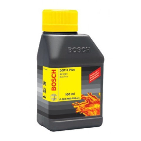 Bosch Brake Fluid DOT 3 Plus 100 ml F 002 H60 016-8F8-Auto Parts-Bosch-100 ml X 1-Helmetdon