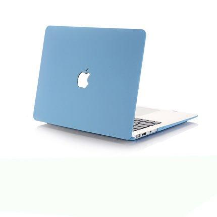 Brain Freezer J Quicksand Finish Flip Thin Hard Armor Back Case For Macbook Air 13'' Inch (Blue)-Brain Freezer-Helmetdon