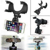 BROLAVIYA ® Iceberg Makers Universal 360 Degree Rotation Car Rearview Mirror Mount Holder Stand Cradle for All Mobile Cell Phone GPS-CE-BROLAVIYA-Helmetdon